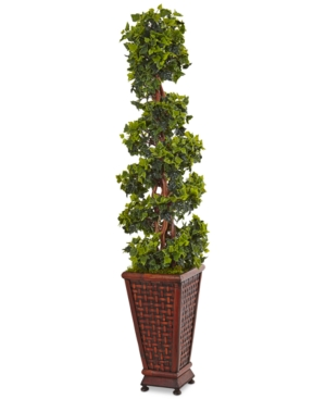 Nearly Natural 45 English Ivy Artificial Tree in Decorative Wood Planter