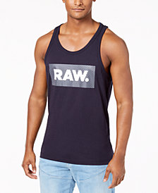 G-Star RAW Men's Graphic-Print Cotton Tank Top, Created for Macy's