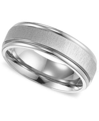 Triton Mens Titanium Ring Comfort Fit Wedding Band Rings
