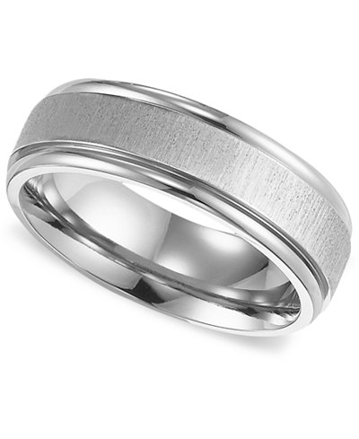 triton mens titanium ring comfort fit wedding band - Wedding Band Rings