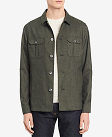 Calvin Klein Men's Heathered Shirt-Jacket