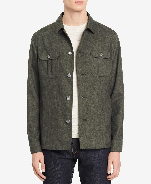 Calvin Klein Men's Heathered Shirt-Jacket