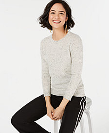 Charter Club Pure Cashmere Crewneck Sweater, Created for Macy's