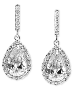 Upc 729881323700 Product Image For B Brilliant Sterling Silver Earrings Cubic Zirconia Pave Teardrop
