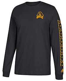 adidas Men's East Carolina Pirates Pattern Sleeves Long Sleeve T-Shirt