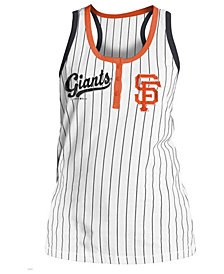 5th & Ocean Women's San Francisco Giants Pinstripe Tank