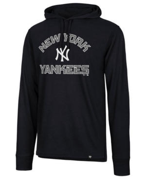 '47 Brand Men's New York Yankees Prop Arch Long Sleeve Hooded T-Shirt