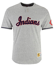 Mitchell & Ness Men's Cleveland Indians Sealed The Victory Henley T-Shirt