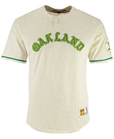 Mitchell & Ness Men's Oakland Athletics Sealed The Victory Henley T-shirt