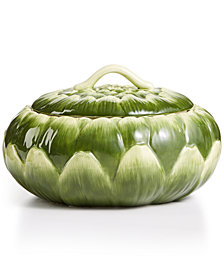 Martha Stewart Collection Farmhouse Artichoke Covered Veg Bowl