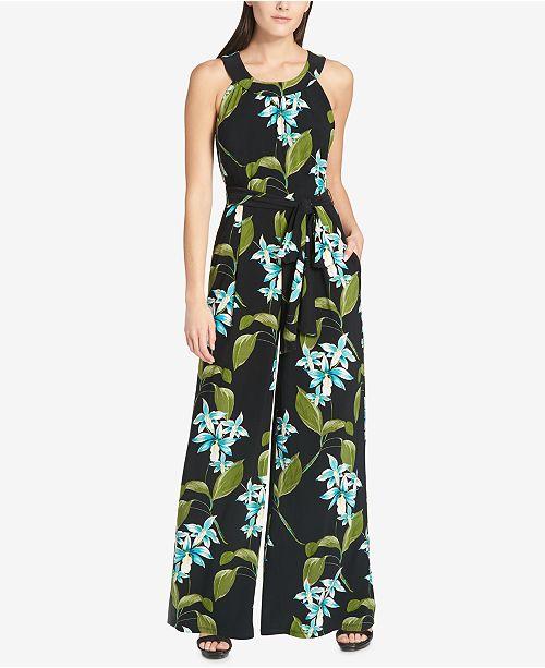 69f73a68a01 Tommy Hilfiger Floral-Print Jumpsuit   Reviews - Pants   Capris ...