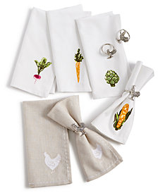 CLOSEOUT! Martha Stewart Farmhouse Table Linens Collection