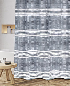 "Popular Bath Nadia Cotton Textured Stripe 72"" x 72"" Shower Curtain"