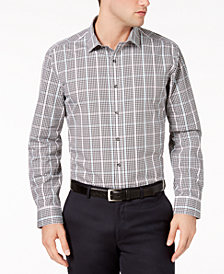 Bar III Men's Dobby Gingham Shirt, Created for Macy's  ACY'S