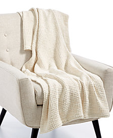 "Hotel Collection Honeycomb Cotton 50"" x 70"" Throw, Created for Macy's"