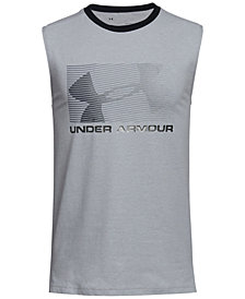 Under Armour Big Boys Logo-Print Muscle Tank Top