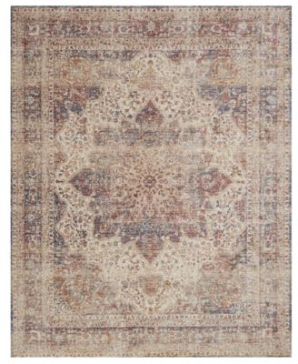 "Porcia PB-05 Ivory/Red 2' 8"" x 8' Runner Area Rug"