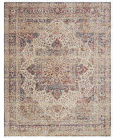 "Loloi Porcia PB-05 Ivory/Red 2' 8"" x 12' Runner Area Rug"