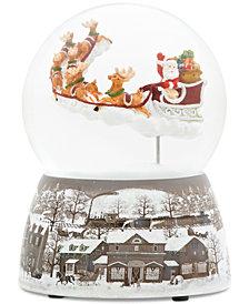 Roman Santa On Sleigh Glitter Dome Musical Snowglobe