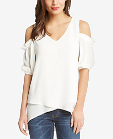 Karen Kane Asymmetrical Cold-Shoulder Top