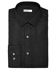 Men's Slim-Fit Stretch Easy-Care Textural Solid Dress Shirt, Created For Macy's