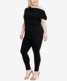 RACHEL Rachel Roy Trendy Plus Size Twisted-Shoulder Top