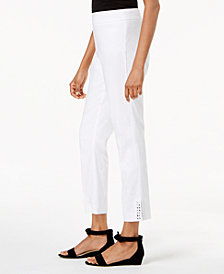 JM Collection Stud-Embellished Ankle Pants, Created for Macy's