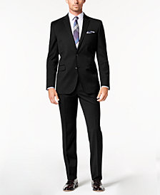 Kenneth Cole New York Men's Slim-Fit Stretch Performance Solid Travel Suit