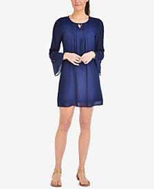 NY Collection Petite Chiffon Peasant Dress