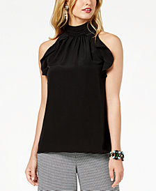 Zoe by Rachel Zoe Ruffled Mock-Neck Top, Created For Macy's