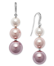 Charter Club Silver-Tone Ombré Imitation Pearl Drop Earrings, Created for Macy's