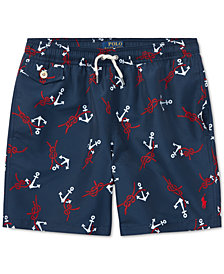 Polo Ralph Lauren Big Boys Traveler Nautical Swim Trunks