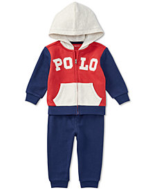 Polo Ralph Lauren Baby Boys Cotton Hoodie & Jogger Pants Set