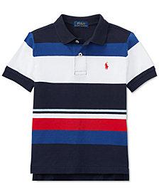 Polo Ralph Lauren Big Boys Colorblocked Striped Cotton Polo