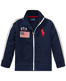 Polo Ralph Lauren Cotton French Terry Track Jacket, Little Boys