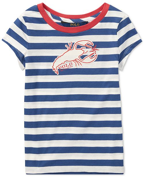 Polo Ralph Lauren Little Girls Cotton Jersey Graphic T-Shirt ... e215d3c9f
