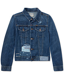 Polo Ralph Lauren Cotton Denim Trucker Jacket, Big Girls