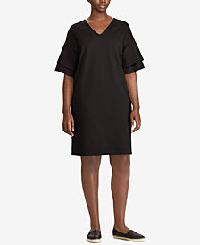 Lauren Ralph Lauren Plus Size Flutter-Sleeve Shift Dress