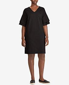 Lauren Ralph Lauren Plus Size Flutter-Sleeve Shift Dress