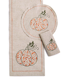 Lenox French Perle Pumpkin Table Linens Accessories Collection