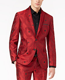 I.N.C. Men's Slim-Fit Circle Print Blazer, Created for Macy's