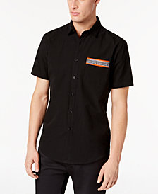 I.N.C. Men's Textured Pocket Shirt, Created for Macy's