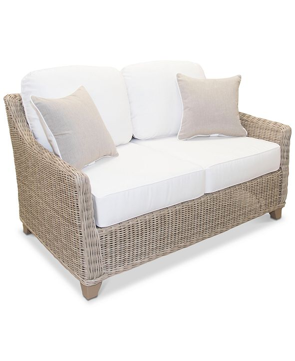 Furniture Willough Outdoor Loveseat, with Sunbrella® Cushions, Created for Macy's