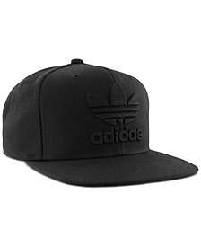 adidas Men's Originals Logo Flat-Brim Hat
