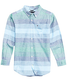 Tommy Hilfiger Big Boys Jason Striped Cotton Shirt
