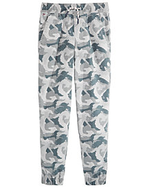 Tommy Hilfiger Big Boys Eagle Camo-Print Cotton Joggers