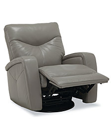 Erith Leather Swivel Glider Pushback Rocker Recliner