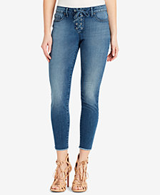 Jessica Simpson Kiss Me Lace-Up Skinny Jeans