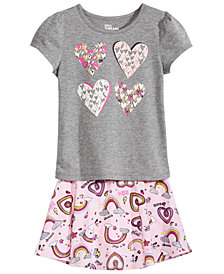 Epic Threads Toddler Girls T-shirt & Skirt, Created for Macy's