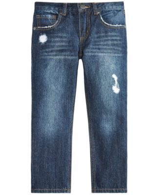 Little Boys Rip-and-Repair Cotton Denim Jeans, Created for Macy's